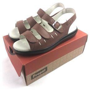 Propet Sandals Breeze Walker W0001 Teak Brown New